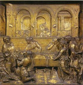 Stiaccio, Donatello, Il banchetto di Erode