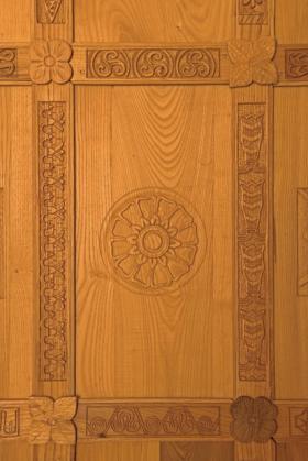 Pannello della parete Est con motivo greco